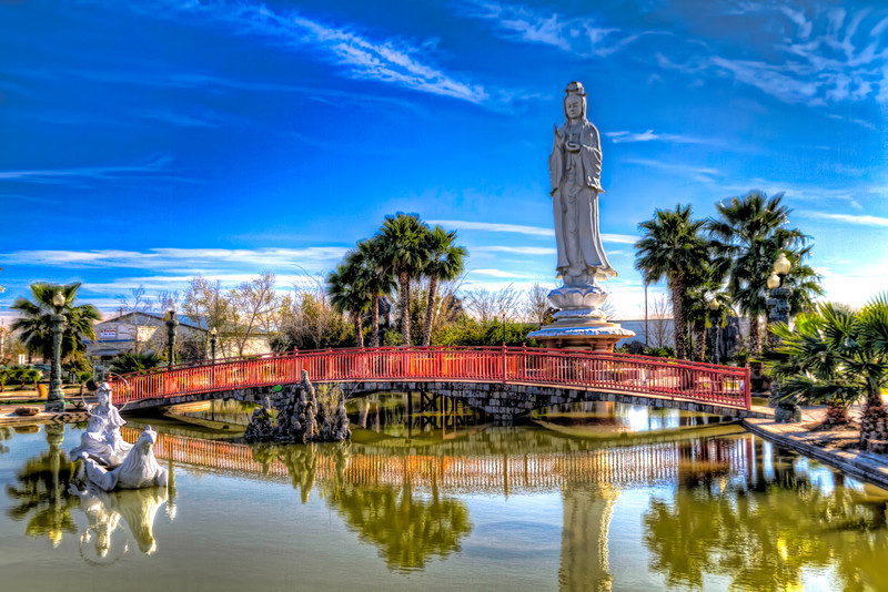 At the Vietnamese Buddhist temple in southwest Houston, you can find this 72-ft sculpture of Quan Âm, the female Buddhist deity of compassion and mercy. This statue is considered to be the largest of this deity in the United States. More information can be found at their website. Photo by Tim Stanley Photography.