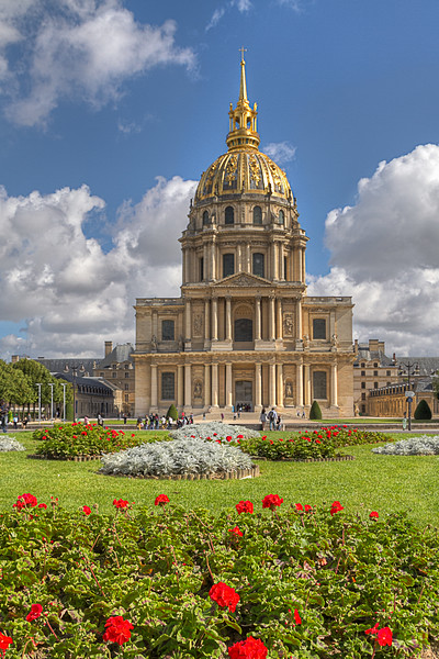 The National Residence of the Invalids is contains museums and monuments, the military museum of the Army of France, as well as the burial site for Napoleon Bonaparte. Photo by Tim Stanley Photography.
