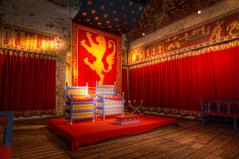 This recreation of the Throne Room provides some insite as to how it might have looked in themedieval times. Photo by Tim Stanley Photography.
