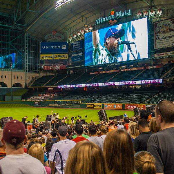 Last summer, the David Crowder Band gave an after-game concert following a Houston Astros baseball game. It was the first concert I've been to in a while and the family had a great time. Photo by Tim Stanley Photography.
