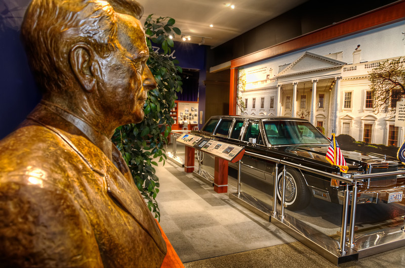 At the George Bush Presidential Library and Museum, you have a chance to see one of the limousines used during that administration. Photo by Tim Stanley Photography.