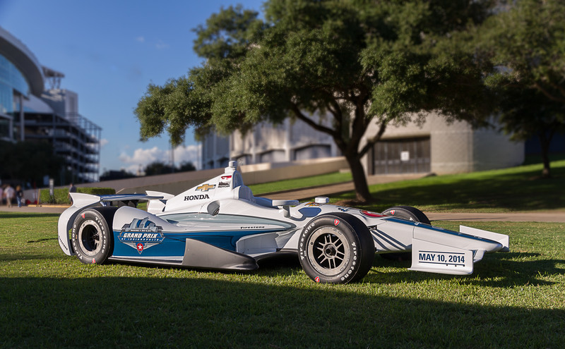 Indy is adding a Grand Prix weekend, similar to what we recently had with the the Houston Grand Prix. To promote their event, they have this car on tour at major events leading up to that race weekend of May 10, 2014.