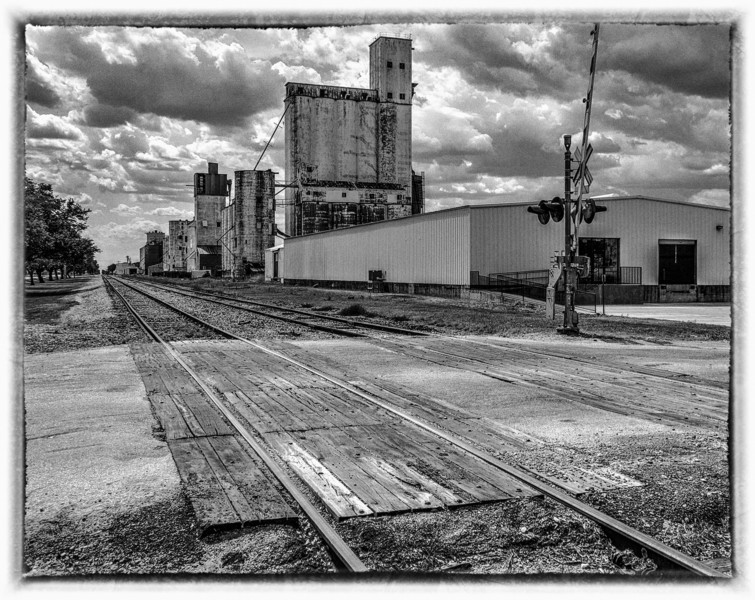 The rice silos and mill of Katy Texas still stand as a reminder of its history. Photo by Tim Stanley Photography.