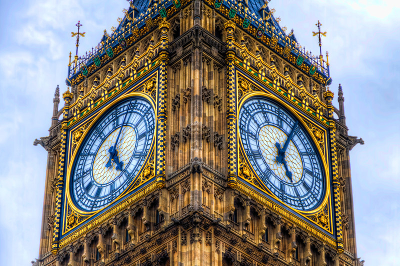 """The """"Clock Tower"""" in London was renamed the Elizabeth Tower in 2012 to celebrate the Diamond Jubilee of Elizabeth II.  The tower holds the largest four-faced chiming clock in the world and is the third-tallest free-standing clock tower. Photo by Tim Stanley Photography."""