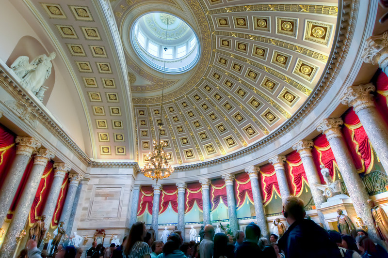 The meeting place of the U.S. House from 1807-1857 is now the main exhibition space for the National Statuary Hall collection and is one of the most historic chambers in the Capitol. Photo by Tim Stanley Photography.