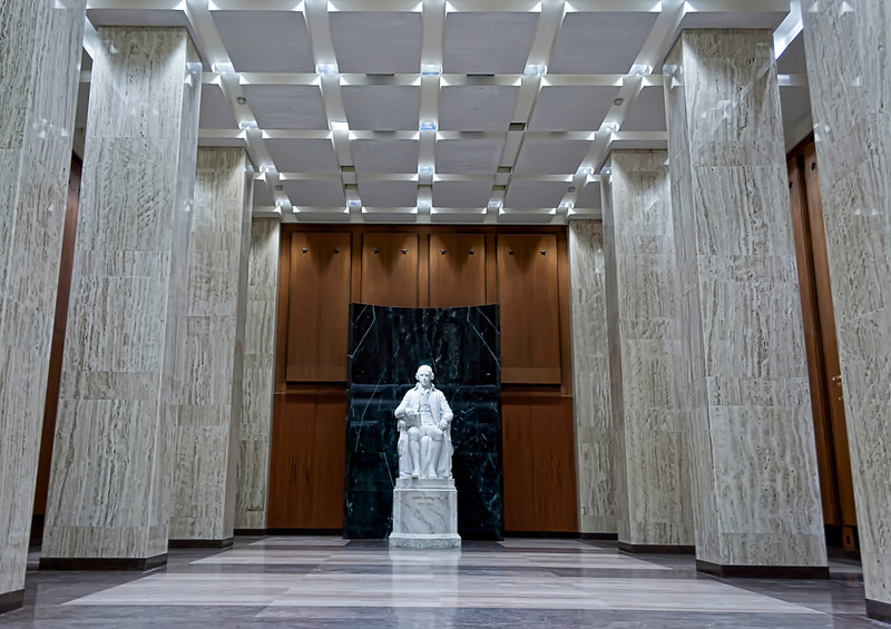 It's easy to miss the smaller gems that you find in Washington. We found such a statue in the James Madison Memorial Building, part of the Library of Congress. Photo by Tim Stanley Photography.