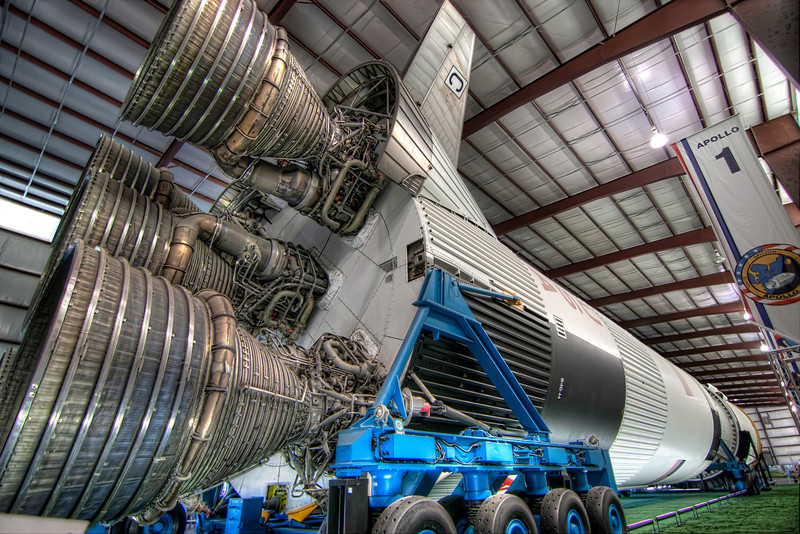If you were around in the late '60s and early '70s you probably remember watching the Apollo moon launches. The rocket that lifted off was the mighty Saturn V, now the most famous rocket in the world. Photo by Tim Stanley Photography.