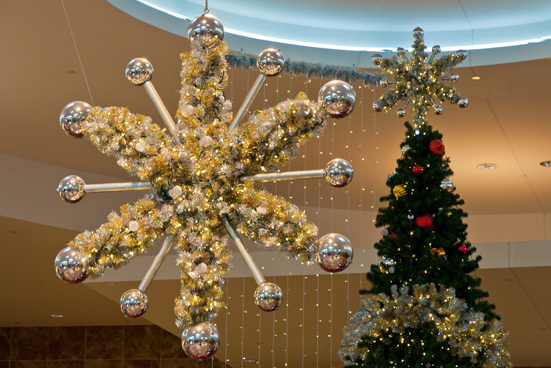 At the mall, I found myself trying to find a subject not too commercialized. Just above Santa's booth however, I saw several large stars that caught my eye. Photo by Tim Stanley Photography.