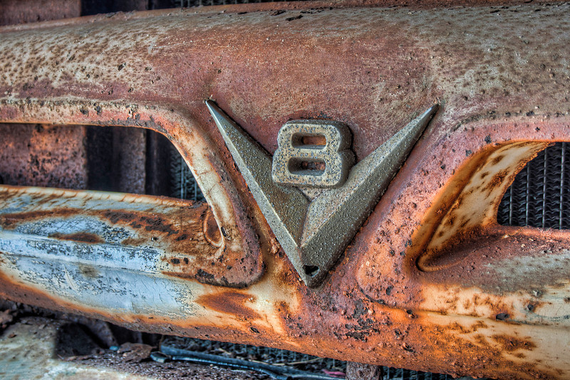 This is the front grill of an old Chevy truck (I think)permanentlyparked at arestauranton the beach. It may never see road action again, but it still gets noticed a lot. Photo by Tim Stanley Photography.