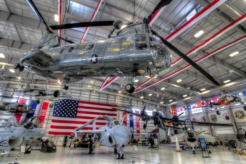 The National Naval Aviation Museum in Pensacola, Florida has a new building behind the main complex called Hanger Bay One. This new attraction includes several historic airplanes, as well as many of the former work horses of military aviation. This view gives you an idea of the variety of the aircraft on display. Photo by Tim Stanley Photography.