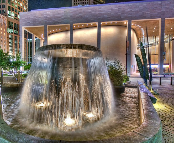 This fountain can be found in the plaza beside Jones Hall in the downtown Houston. Photo by Tim Stanley Photography.