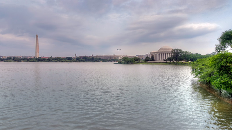 When you visit Washington D.C., you can catch a glimpse of the Potomac River from a few memorials, such as the Washington and Jefferson Memorials in this photo. Photo by Tim Stanley Photography.